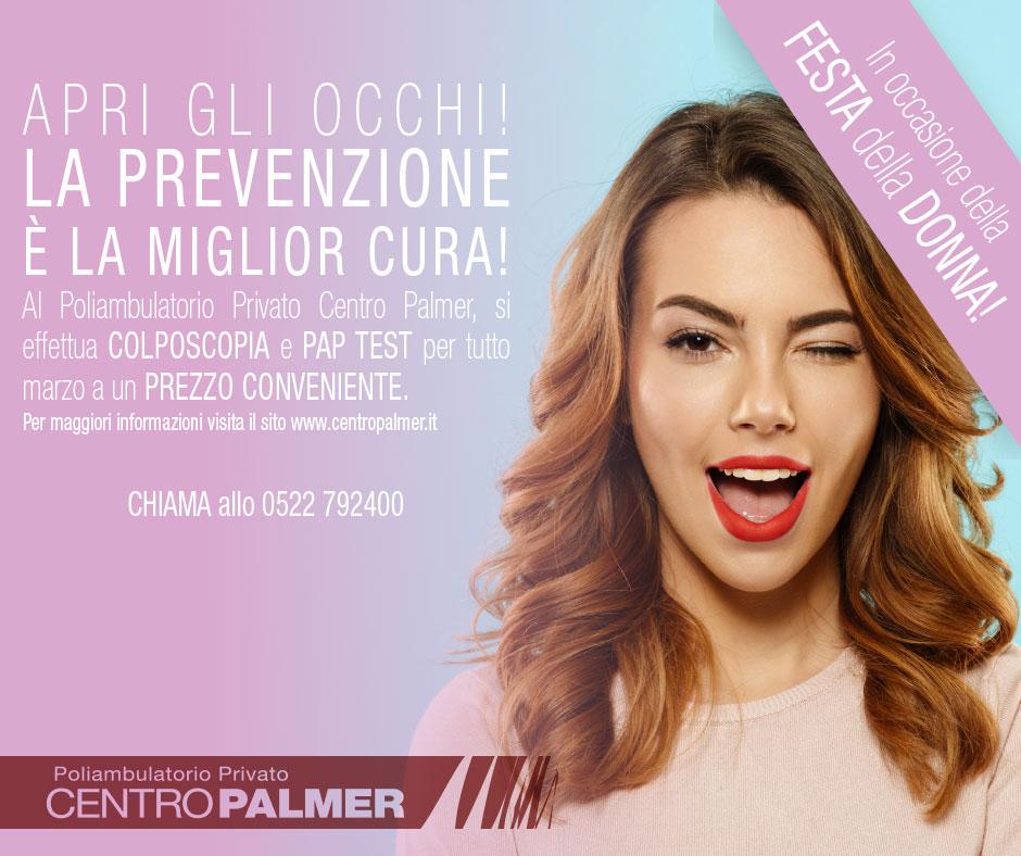 Post Promo Festa della Donna 2018 -Centro Palmer
