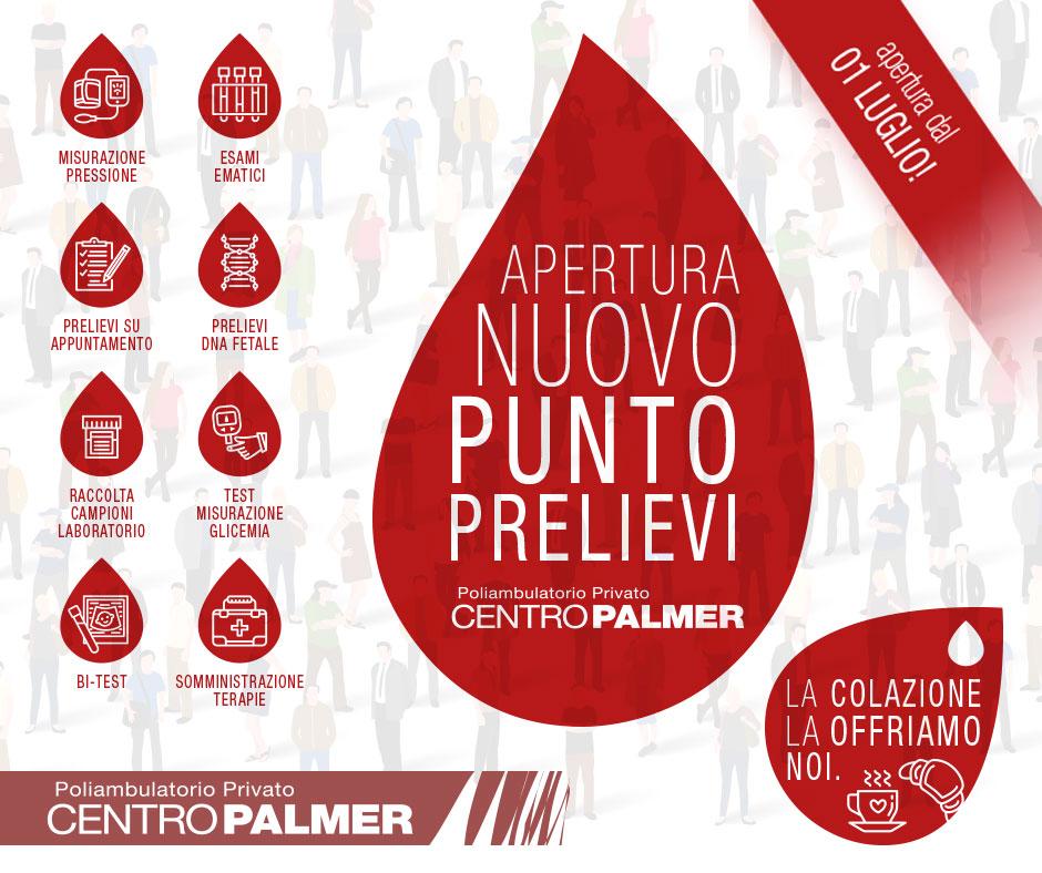 Apertura Nuovo Punto Prelievi - Centro Palmer - Post