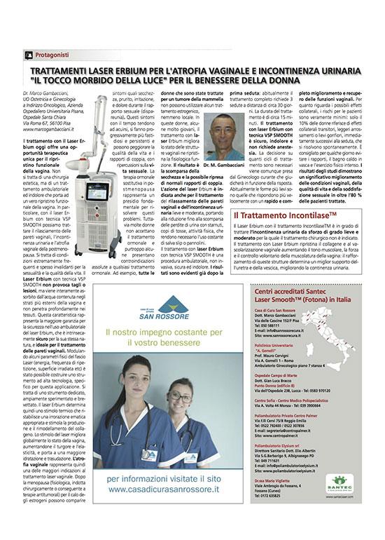 Articolo Trattamento Laser Erbium Santec - Centro Palmer