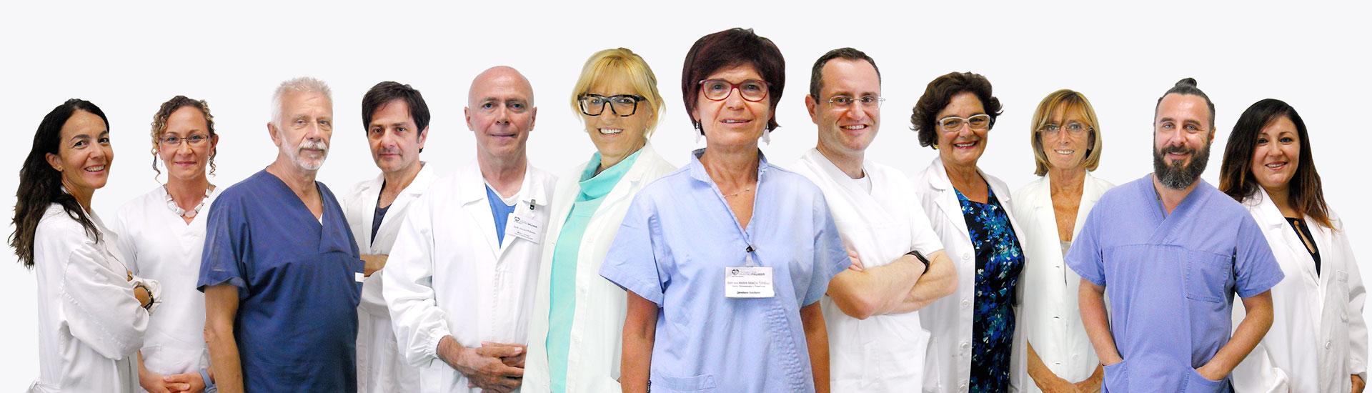 Foto di gruppo dell'Équipe dei Medici del Poliambulatorio Privato Centro Palmer-1