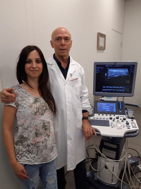 Marienza Lobascio con Dott. Valcavi Roberto al Centro Palmer