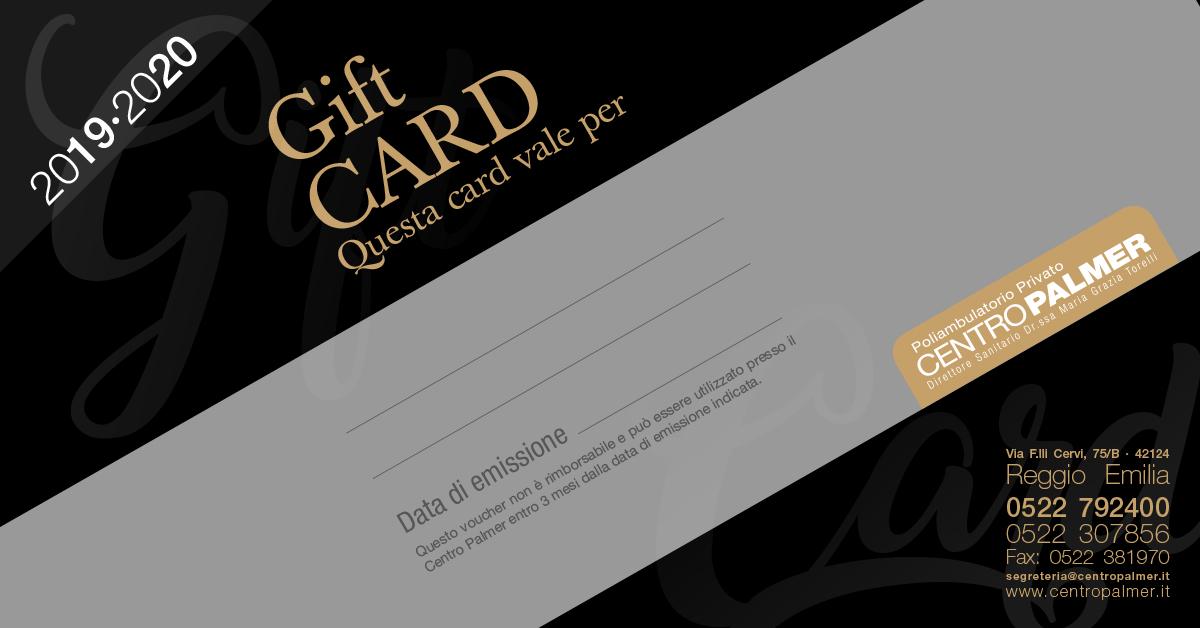 Gift Card 2019 del Centro Palmer - slide