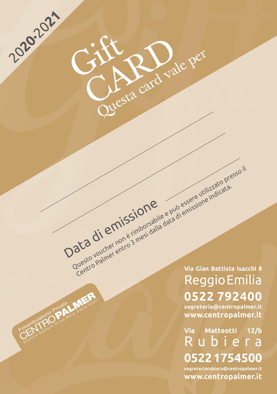 GIFT CARD 2020/2021 del Poliambulatorio Centro Palmer